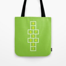 Hopscotch Green Tote Bag