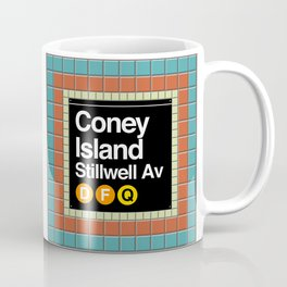 subway coney island sign Coffee Mug