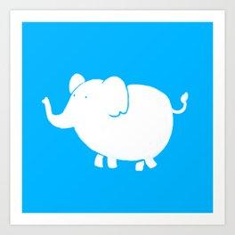 White Elephant  Art Print