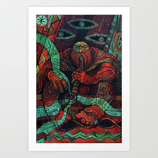 Peace Pipe Art Print