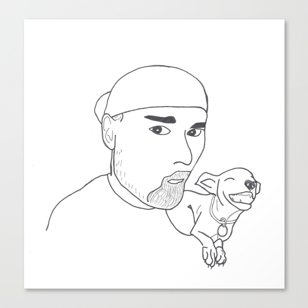 A Boy And His Dog. Canvas Print by Pirate CNV921994