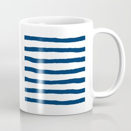 Blue And White Stripes, Stripe Art, Simple Art Coffee Mug
