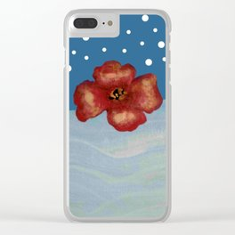 Coquelicot en mer bis Clear iPhone Case