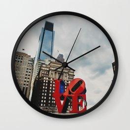 Philadelphia the city of brotherly love  Wall Clock
