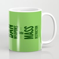 jurassic park Mugs featuring Occupy Jurassic Park by AGRIMONY // Aaron Thong