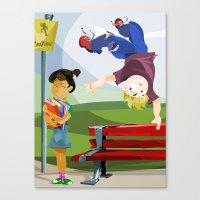 boys Canvas Prints featuring ...boys. by Jason Bryant Parker