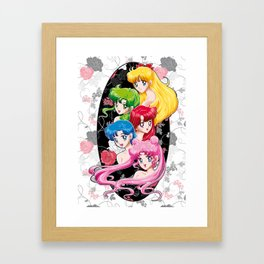 Sailor Senshi - Uncovered (Original Color Edition) Framed Art Print