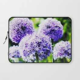 Fuzzy Blue Alliums Laptop Sleeve