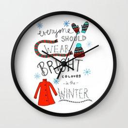 Winter Cheer Wall Clock