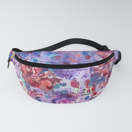 She's a wild one - Abstract floral painting Fanny Pack