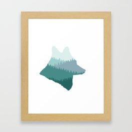 Wolf Mountains (Blue) Framed Art Print