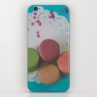 macarons iPhone & iPod Skins featuring Macarons by Jessica Torres Photography