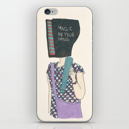 music in your mind iPhone Skin
