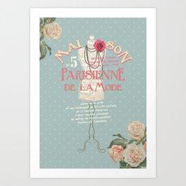 Maison Parisienne Art Print