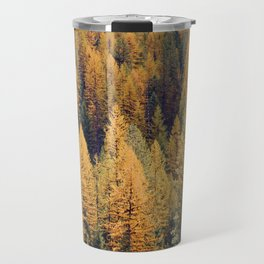 Autumn Tamarack Pine Trees Travel Mug