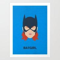 Batgirl Minimalist Design Art Print