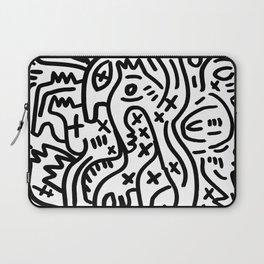 Graffiti Street Art Black and White Laptop Sleeve