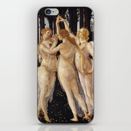 La Primavera - The Three Graces - Sandro Botticelli iPhone Skin