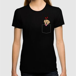 Yellow Lab Pocket Puppy (for dark colors) T-shirt