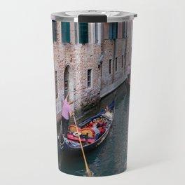 Venice Gondola Rides in Pink Travel Mug
