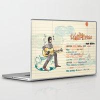bob dylan Laptop & iPad Skins featuring Bob Dylan by sandra conejeros