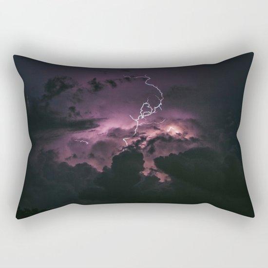 Purple lightning #stars Rectangular Pillow