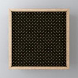 Small Bright Gold Metallic Foil Bees on Black Framed Mini Art Print
