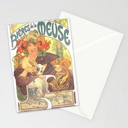 "Alphonse Mucha ""Bières de la Meuse"" Stationery Cards"