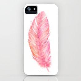 Flamingo Feather | Tropical Bird iPhone Case