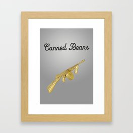 Canned Beans Framed Art Print