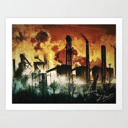 Steelworks Art Print