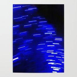 Blue Lights in November Poster