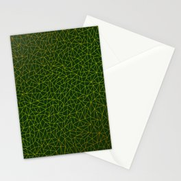 Gold Lowpoly in Green Background Stationery Cards