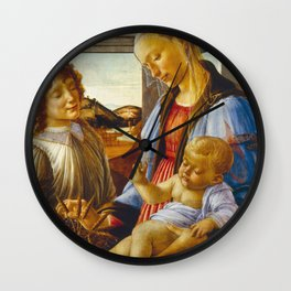Botticelli  -  Virgin And Child With An Angel Wall Clock