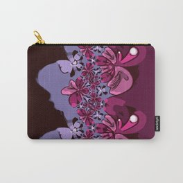 Amorphous Floral Carry-All Pouch