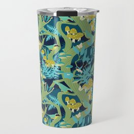North American Forest Pattern (Greens) Travel Mug
