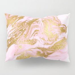 Rose Gold Mermaid Marble Pillow Sham