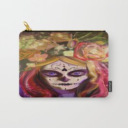 Day of the Dead Blue Eyes Carry-All Pouch