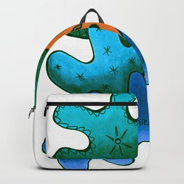 Relaxing Ornamental Spirits. Meditative iFi Art. Stress and Pain Free with MYT3H. Green. Wood. Wind. Backpack