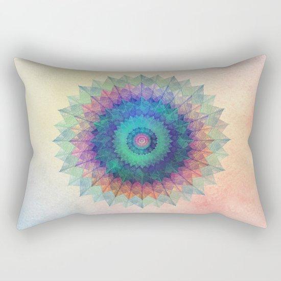 Leaf Mandala Rectangular Pillow