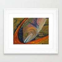trout Framed Art Prints featuring Trout by JSwartzArt