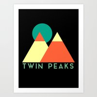 twin peaks Art Prints featuring Twin Peaks by Victor Velocity