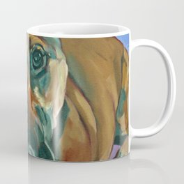 Chance the Terrier Mix Dog Portrait Coffee Mug
