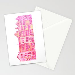 Tropical Homes – Pink Ombré Stationery Cards