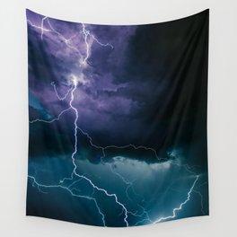 Lightning Strikes Wall Tapestry