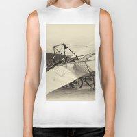 aviation Biker Tanks featuring Airplane by DistinctyDesign