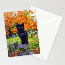 Cemetery Cat Stationery Cards