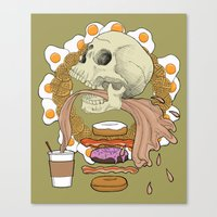 breakfast Canvas Prints featuring Breakfast by Megan Leigh Jessup