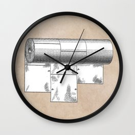 patent art Wheeler Wrapping of toilet paper 1894 Wall Clock
