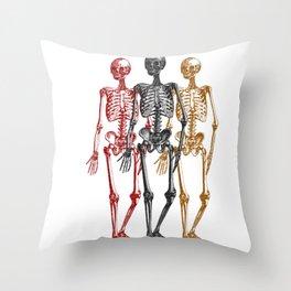 Skeleton Halloween Twins Throw Pillow